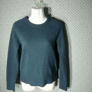 J. Crew Teal Wool Crew Neck Sweater